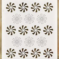 Stampers Anonymous - Christmas - Tim Holtz - Layering Stencil - Shifting Peppermint