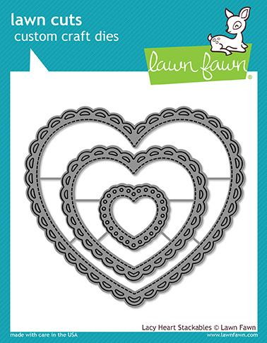 Lawn Fawn Lacy Heart Stackables