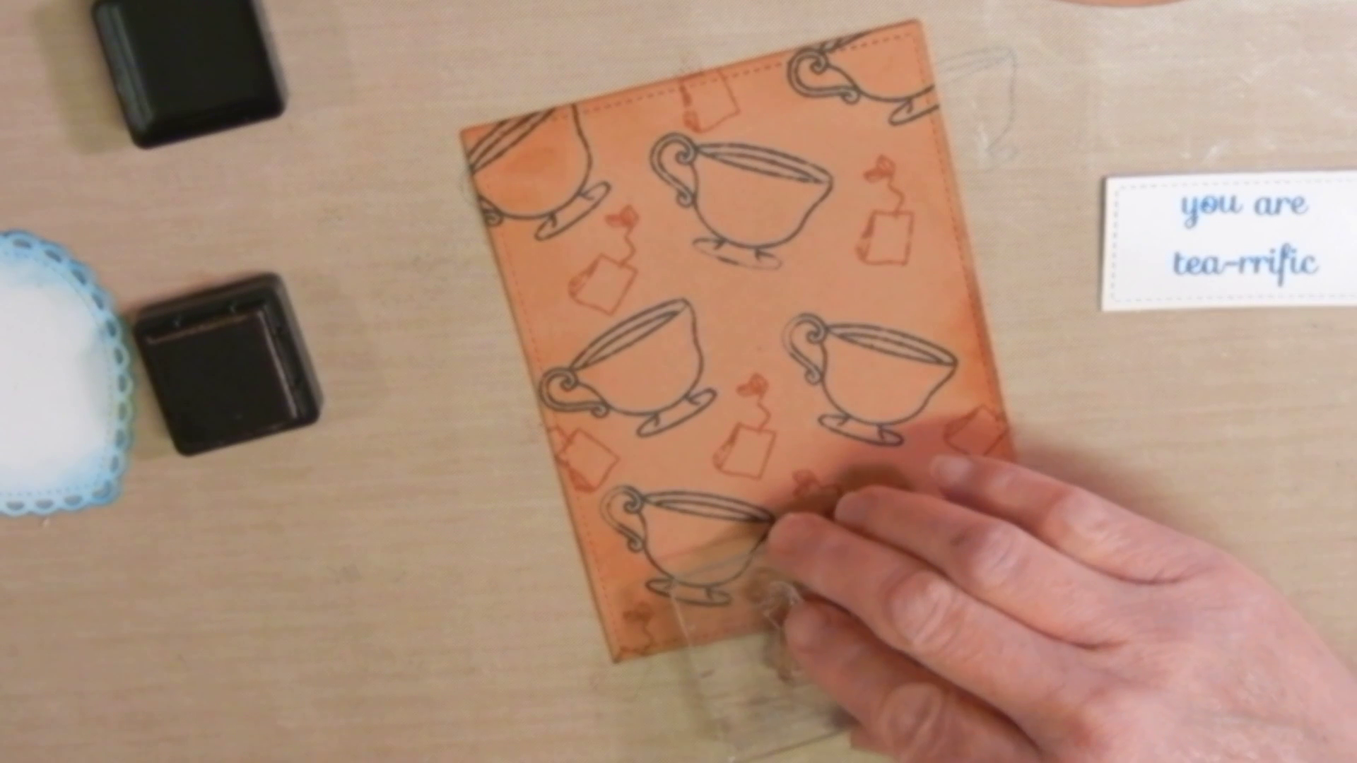 creating tea patterned paper